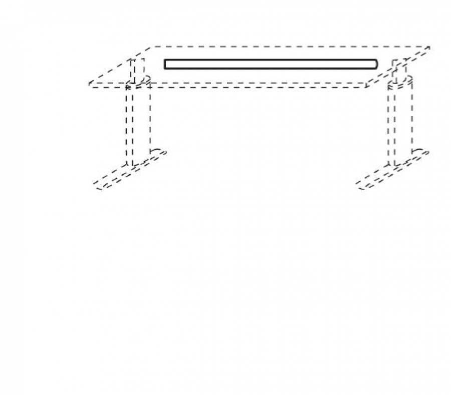 kabelkanal aus metall f r schreibtischbreite 180cm. Black Bedroom Furniture Sets. Home Design Ideas