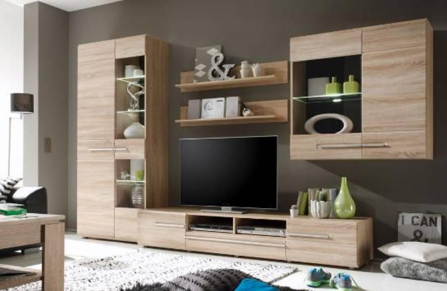 inter furn wohnwand bora 1327 961 39 aktionspreis. Black Bedroom Furniture Sets. Home Design Ideas