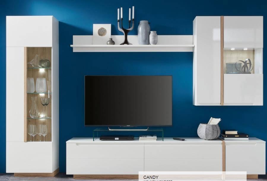 inter furn wohnwand candy zum aktionspreis. Black Bedroom Furniture Sets. Home Design Ideas