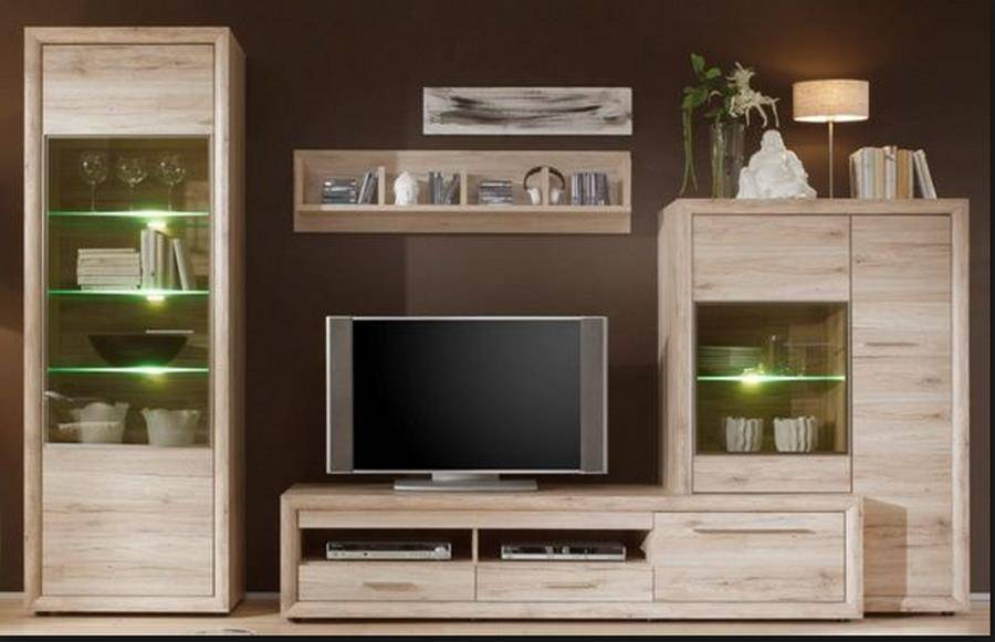 inter furn wohnwand vegas 1348 951 90 zum aktionspreis. Black Bedroom Furniture Sets. Home Design Ideas