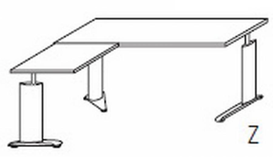 r hr techno schreibtisch 016 086r 087l g nstig kaufen. Black Bedroom Furniture Sets. Home Design Ideas