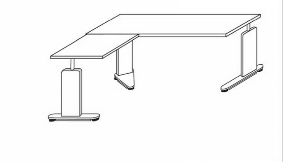 r hr techno schreibtisch 016 a54r c55l kaufen. Black Bedroom Furniture Sets. Home Design Ideas