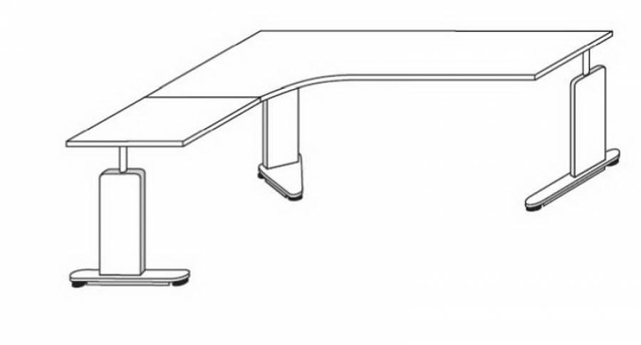 Röhr Techno - Schreibtisch 016-A60r/-C61l kaufen.