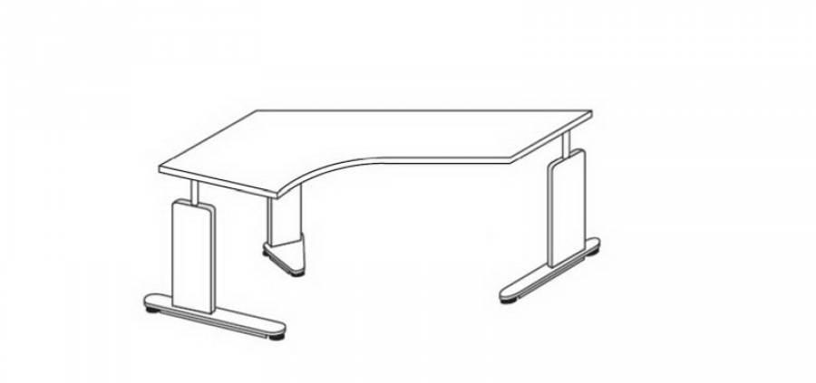 r hr techno schreibtisch 016 a80r c91l kaufen. Black Bedroom Furniture Sets. Home Design Ideas