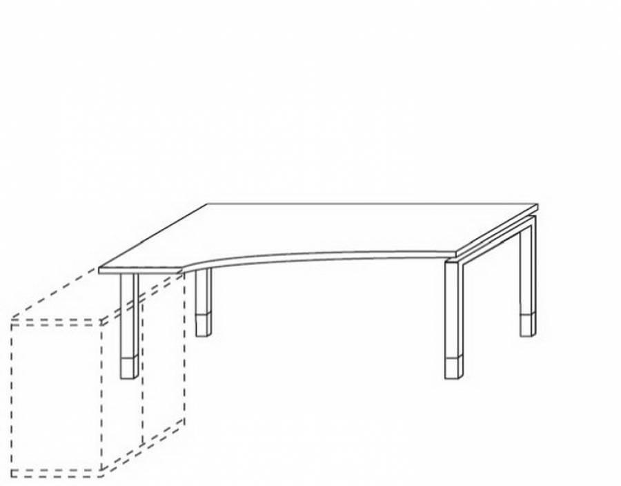 Röhr Techno - Schreibtisch 016-E32r/E33l günstig kaufen