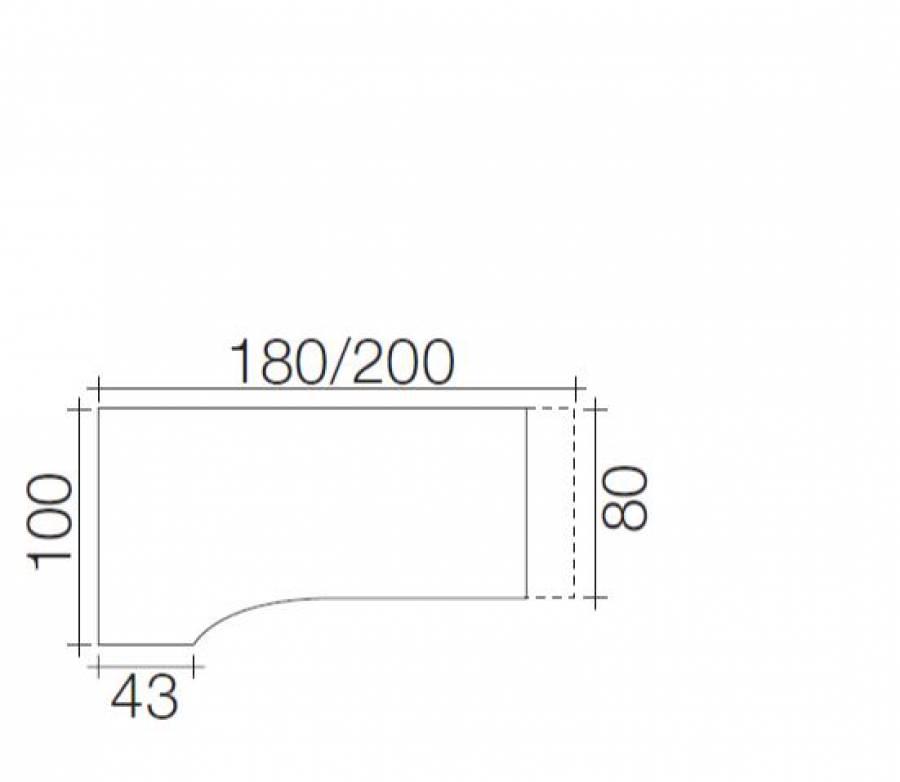R hr techno schreibtisch 016 e24r e25l g nstig kaufen for Schreibtisch techno 016