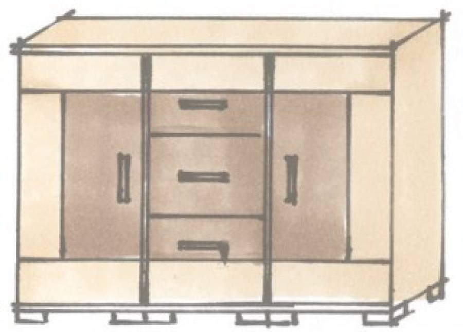 r hr vegas plus kommode 261 381 g nstig kaufen. Black Bedroom Furniture Sets. Home Design Ideas