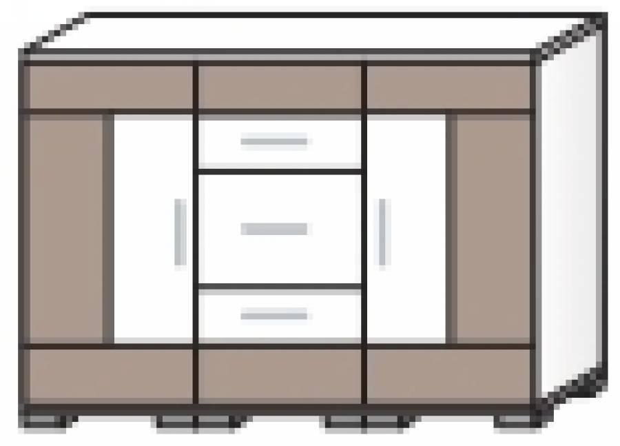 r hr vegas plus sideboard 261 381 0000 g nstig kaufen. Black Bedroom Furniture Sets. Home Design Ideas