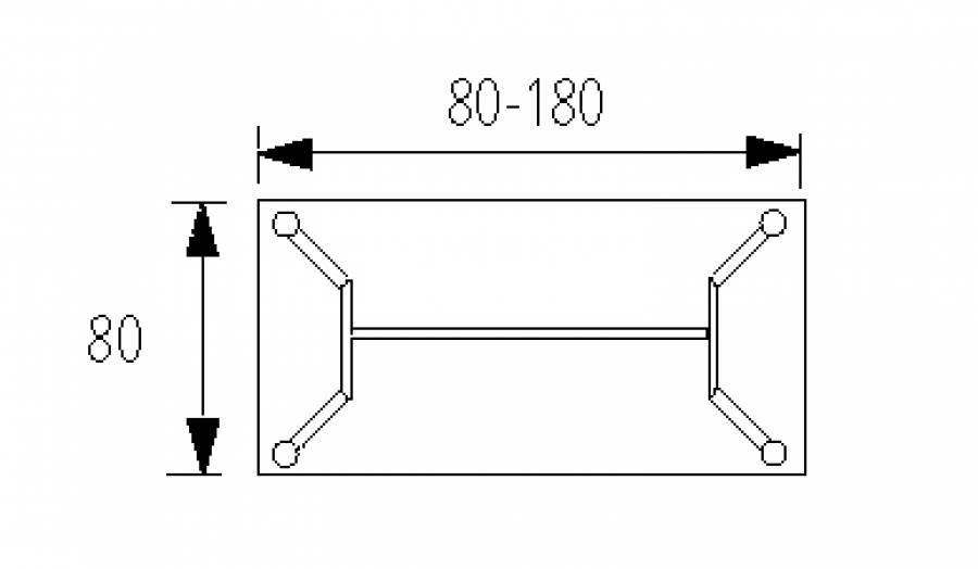 Wellemöbel Hyper - Schreibtisch HY-4-80 günstig kaufen