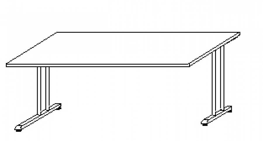 Wellem bel hyper schreibtisch hy c80 g nstig kaufen for Schreibtisch lang