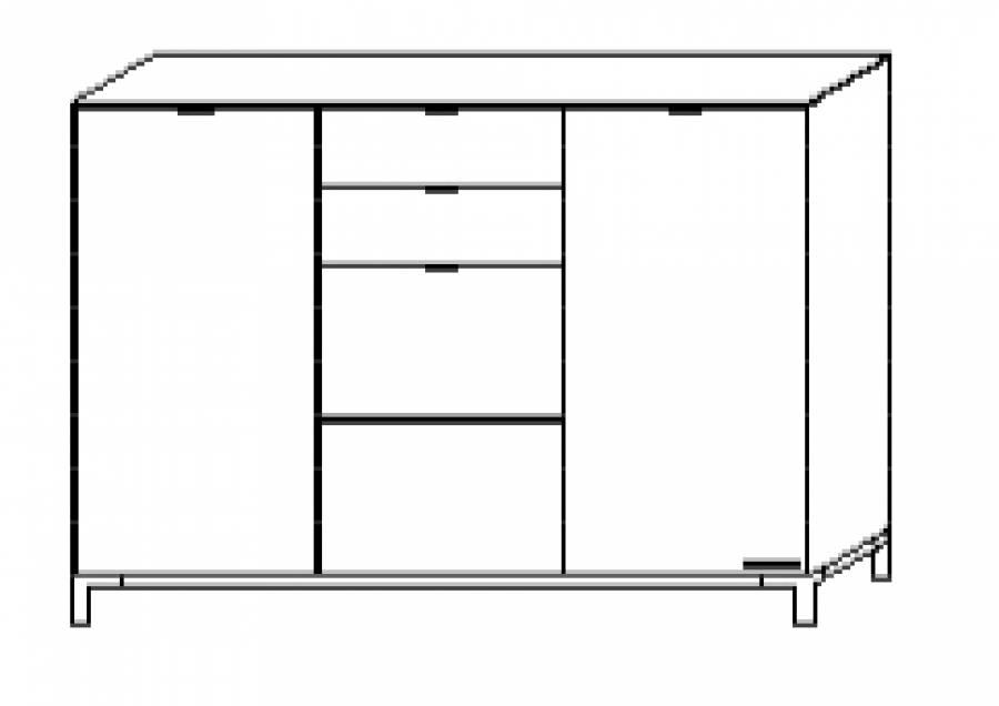 wellem bel chiraz kommode 42533 g nstig kaufen. Black Bedroom Furniture Sets. Home Design Ideas