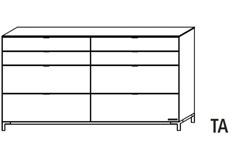 Wellemöbel Chiraz - Kommode 42535 günstig kaufen