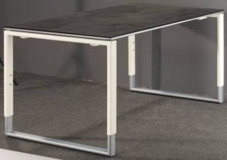 R hr objekt plus schreibtisch 184 k metallkufe kaufen for Schreibtisch quarzit
