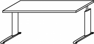 R hr techno schreibtisch 016 009 t g nstig kaufen for Schreibtisch techno 016