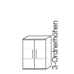 3 Ordnerhöhen (111,7 cm)