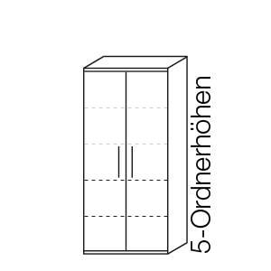 5 Ordnerhöhen (182,1 cm)