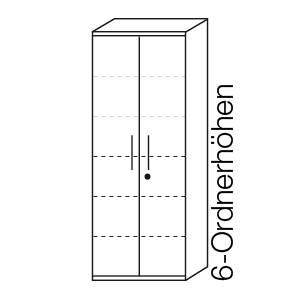 6 Ordnerhöhen (217,4 cm)