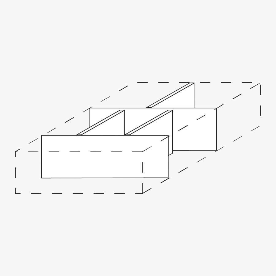 Trennstege Set 5tlg.für Rolllcontainer | Direkt von Röhr
