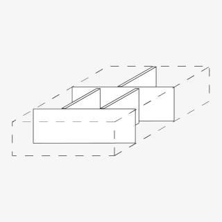 Röhr Techno | Zubehör Schubkasten Trennstege 5 tlg. Set / 2x Quer-, 3x Längseinteilung