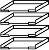 Röhr Techno | Zubehör Ablage für DIN A4 Papier, 4erSet