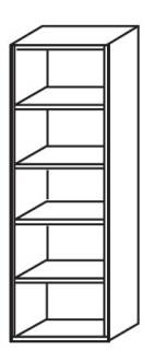 Röhr Techno   Aktenregal Typ 413 - Anbauteil 5 Ordnerhöhen - offen