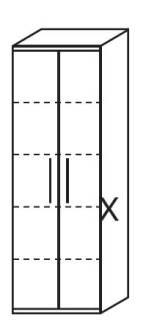 Röhr Techno   Aktenschrank Typ 430 - Anbauteil 5 Ordnerhöhen - 2 Türen