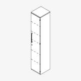 Röhr Techno | Aktenschrank Typ 460r / 461l - Anbauteil 6 Ordnerhöhen - 1 Tür