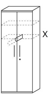 Röhr Techno | Kleiderschrank Typ 481 - Anbauteil 6 Ordnerhöhen - 2 Türen