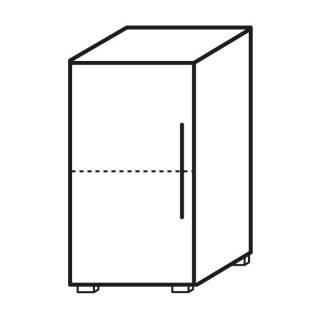 Röhr Objekt.Plus   Aktenschrank 2OH, 1 Tür Anschlag links, 1 E.-Boden, 40 cm breit