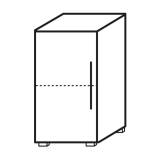 Röhr Objekt.Plus | Aktenschrank 2OH, 1 Tür Anschlag links, 1 E.-Boden, 40 cm breit