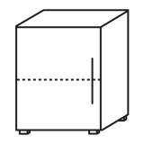 Röhr Objekt.Plus | Aktenschrank 2OH, 1 Tür Anschlag links, 1 E.Boden, 60cm breit