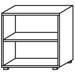 Röhr Objekt.Plus | Aktenregal 2OH, offen, 1 E.-Boden, 80 cm breit