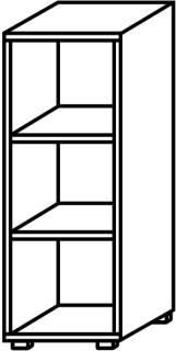 Röhr Objekt.Plus | Aktenregal 3OH, offen, 2 E.-Böden, 40 cm breit