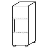 Röhr Objekt.Plus | Aktenschrank 3OH, 1 Tür Anschlag rechts, 2 E.-Böden, 40 cm breit
