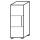 Röhr Objekt.Plus   Aktenschrank 3OH, 1 Tür Anschlag links, 2 E.-Böden, 40 cm breit