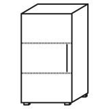 Röhr Objekt.Plus   Aktenschrank 3OH, 1 Tür Anschlag links, 2 E.-Böden, 60 cm breit