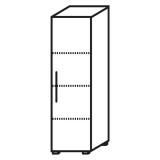 Röhr Objekt.Plus | Aktenschrank 4OH, 1 Tür Anschlag rechts, 2 E.-Böden, 1 Boden fest, 40 cm breit