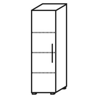 Röhr Objekt.Plus | Aktenschrank 4OH, 1 Tür Anschlag links, 2 E.-Böden, 1 Boden fest, 40 cm breit