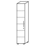 Röhr Objekt.Plus | Aktenschrank 6OH, 1 Tür Anschlag links, 4 E.-Böden, 1 Boden fest, 40 cm breit