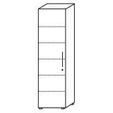 Röhr Objekt.Plus | Aktenschrank 6OH, 1 Tür Anschlag links, 4 E.-Böden, 1 Boden fest, 60 cm breit