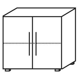 Röhr Objekt.Plus | Aktenschrank 2OH, 2 Türen, 1 E.-Boden, 80 cm breit