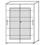 Röhr Objekt.Plus   Schwebetürenschrank 6OH, 2 Schwebetüren Frontrahmen, 160 cm breit