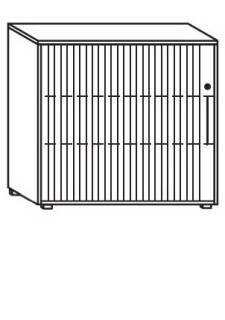 Röhr Objekt.Plus | Jalousieschrank 3OH, Korpus Weiß, Jalousie weiß, Griff rechts, 120 cm breit