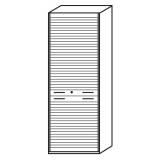 Röhr Objekt.Plus | Jalousieschrank 6OH, Korpus weiß, Jalousie alufarbig, 80 cm breit