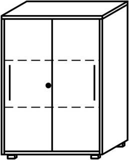 Röhr Objekt.Plus | Aktenschrank 3OH, 2 Schiebetüren, 1 Schloss, 80 cm breit
