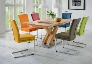 Niehoff Sitzmöbel | COLORADO Stuhlsystem - Schwingstuhl Flachstahl Edelstahl