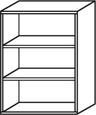 Röhr Techno | Aktenregal Typ 304 - Anbauteil 3 Ordnerhöhen - offen