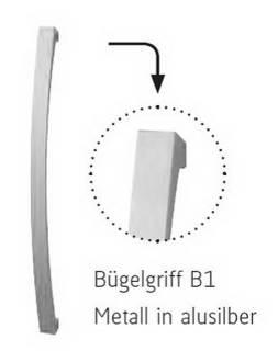 Röhr - Bügelgriff B1 - Metall in alusilberfarbig