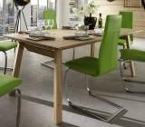 Niehoff Sitzmöbel - Designtisch Massivholz & 6 Schwingstühle