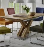 Niehoff Sitzmöbel - Schiebeplattentisch mit 6 Schwingstühlen